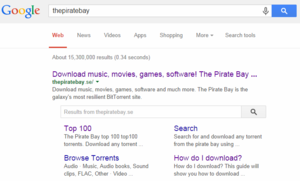 Google removes search tool regarding Torrent websites